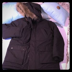 Heavy winter hooded coat - fleece lined